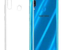 Бампер для Samsung Galaxy A20/A30 прозрачный