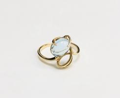 Кольцо золотое с топазом 16,25 р-р