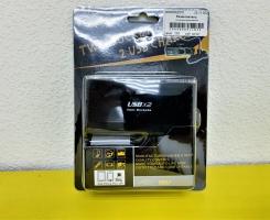 Разветвитель на 2 прикуривателя с проводом(+ 2 USB)