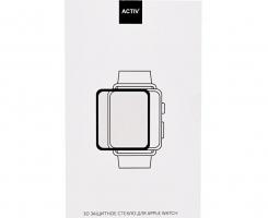 Защитное стекло Activ Clean Line 3D для Apple Watch 38мм, черное