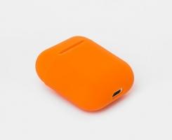 Чехол для наушников AirPods оранжевый