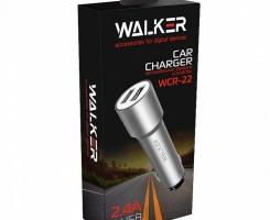 АЗУ адаптер WALKER WCR-22 2 разъема USB 2.4A