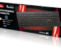 Клавиатура SmartBuy 206 Slim мультимедийная черная