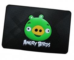 Противоскользящий коврик  Angry Birds черный