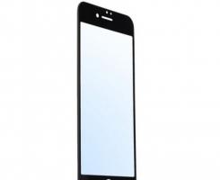 Защитное стекло 3D черное на Iphone 6 plus