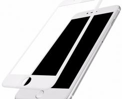 Защитное стекло 3D белое на Iphone 7/8