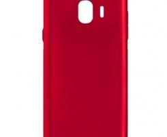 Бампер для Samsung Galaxy J6 (2018) красный перламутровый