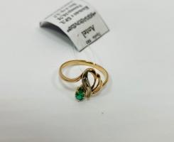Кольцо золотое 16,75 р-р