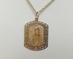Ладанка золотая новая (Св. Великомуч. Маргарита)