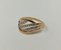 Кольцо золотое новое 17,5 р-р