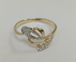Кольцо золотое новое 17.5 р