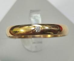 Кольцо обручальное с бриллиантом 16 р