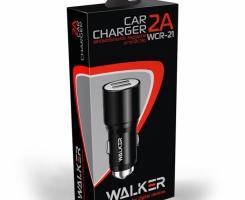АЗУ адаптер WALKER WCR-21 2 разъема USB 2.1A