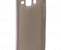 Бампер для Samsung Galaxy J1 2016 прозрачный-темный
